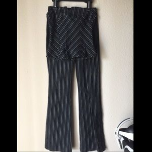 Pint striped tube top and pant set